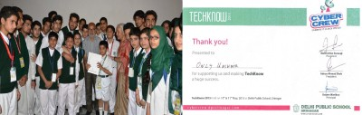 Two-Day IT fest – TechKnow concludes at Delhi Public School, Only Kashmir felicitated