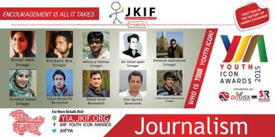 Nominees for Youth Icon Award announced, Bilal Bashir Bhat amongst