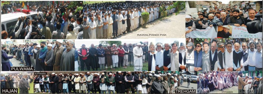 Prayers in absentia for Amanullah Khan held in nook and corner of Kashmir, Yasin Malik, Javaid Mir detained, restrictions in Lal Chowk, thousands attend funeral in Pakistan