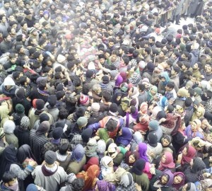 Flood of people joined funeral prayers of slain militants in South Kashmir