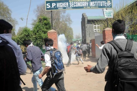 Students protest spiral in across the Kashmir