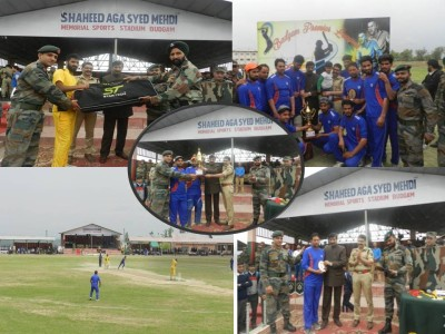 Sher Dil Pallar lifts Budgam T-20 Cricket Championship trophy