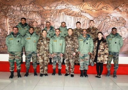 India and China Armies shared stage in Ladakh